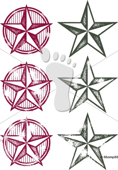 Vintage Western Star Design
