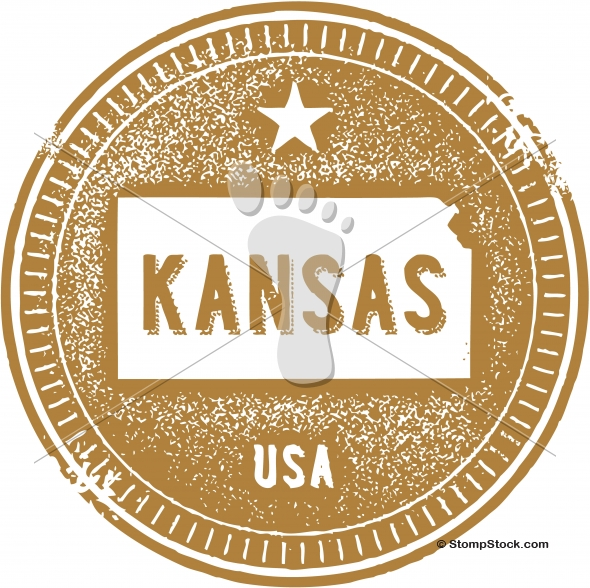 Vintage Kansas USA State Stamp – Seal