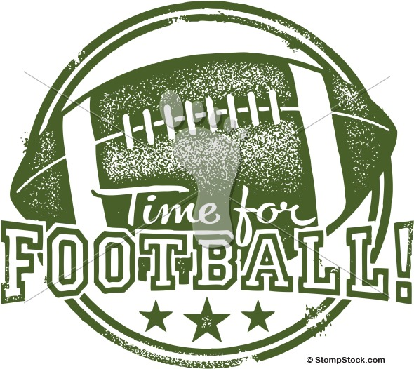 It's time for Football! Vector Clip Art