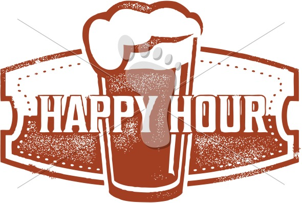 Happy Hour Tap Beer Vector Design