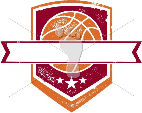 Basketball Team Crest Banner
