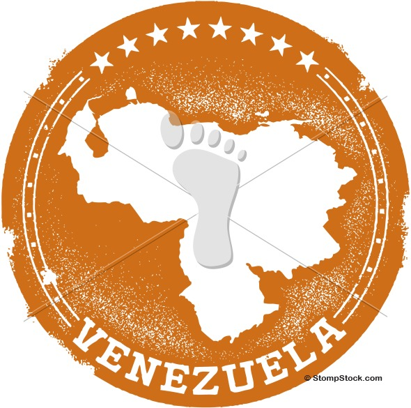 Venezuela Vector Country Stamp