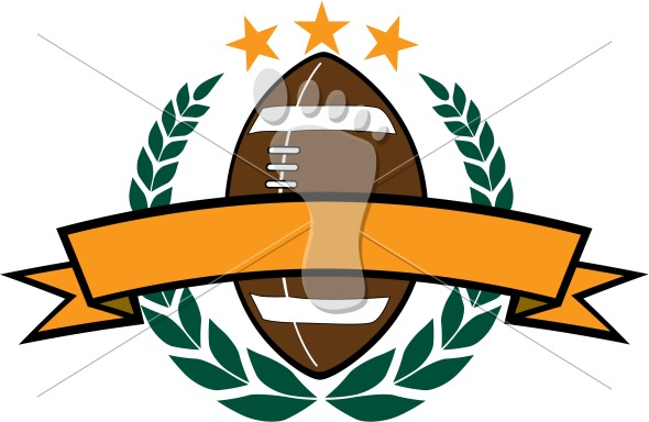 Football Laurel Wreath Vector