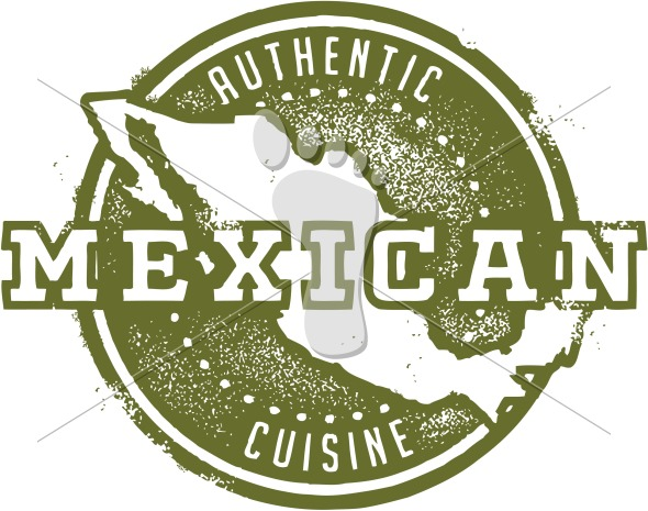 Authentic Mexican Cuisine Restaurant Menu Stamp