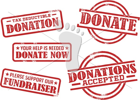 Donate – Donation Fundraiser Vector Graphics