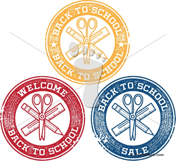 Back to School Vector Clip-Art