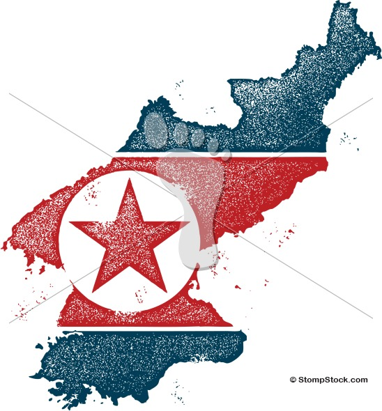 North Korea Vector News Graphic