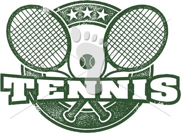 Vintage Tennis Sport Clipart