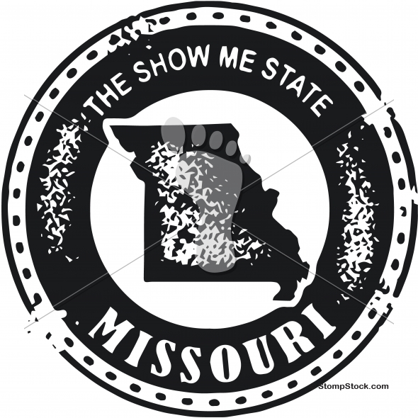 Vintage Missouri USA State Stamp – Seal