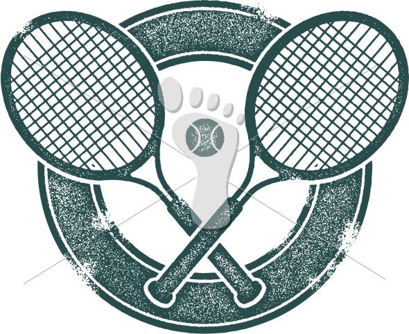 Vintage Style Tennis Sport Clip Art