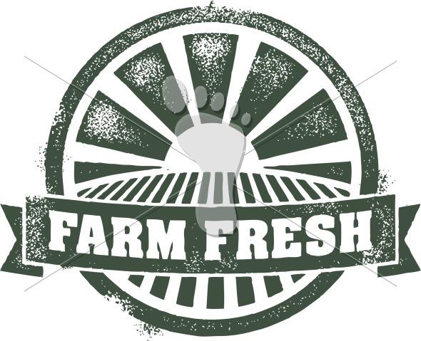 Farm Fresh Produce Vector Clip Art