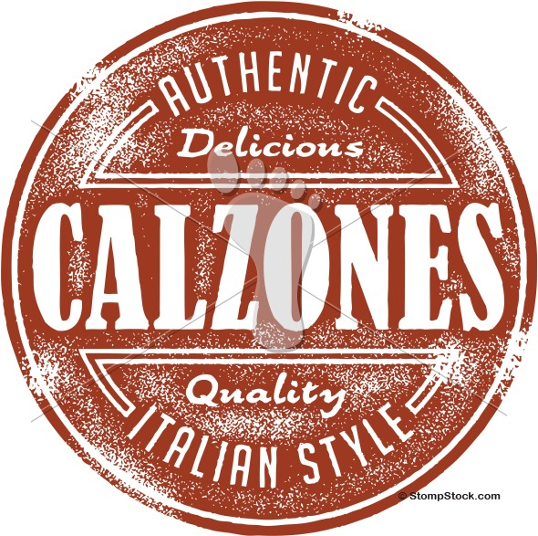 Authentic Calzone Menu Design Stamp