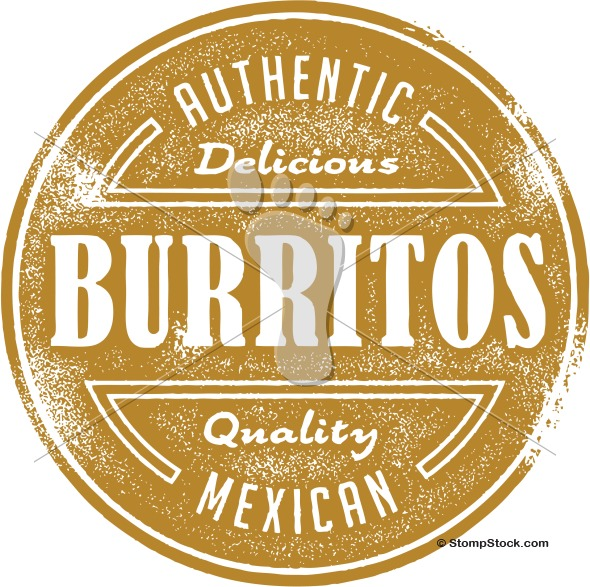 Authentic Mexican Burrito Clipart