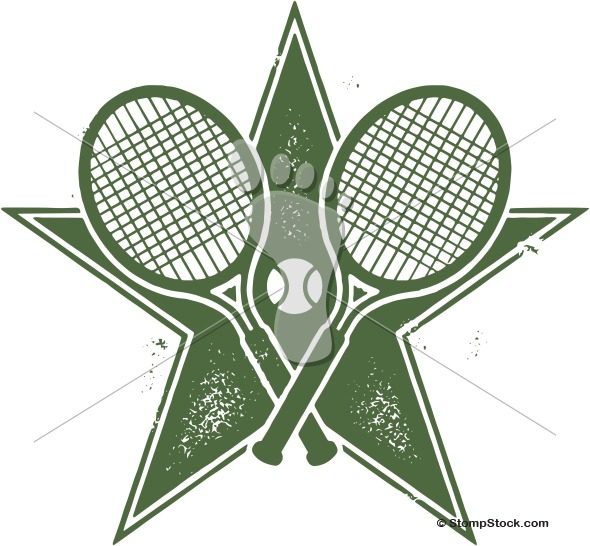 Tennis Star Vector Clipart