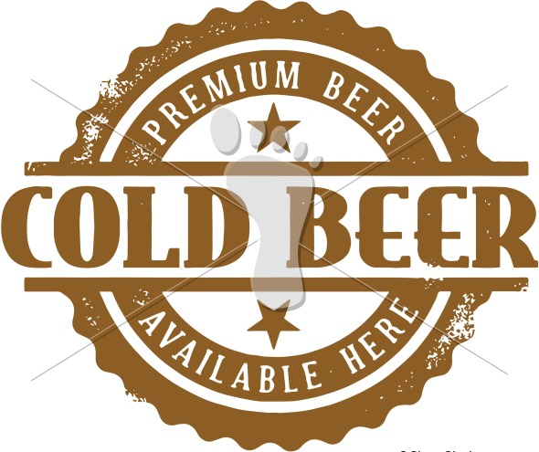 Cold Beer Available Here Stamp