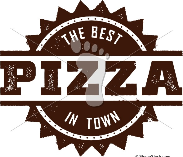 Best Pizza in Town Vector Design
