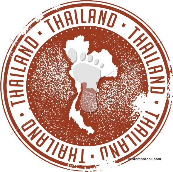 Thailand Country Vector Stamp