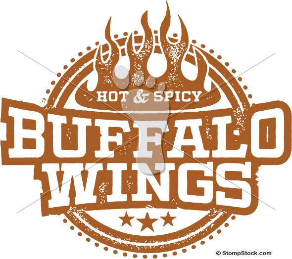Spicy Buffalo Chicken Wings Clipart