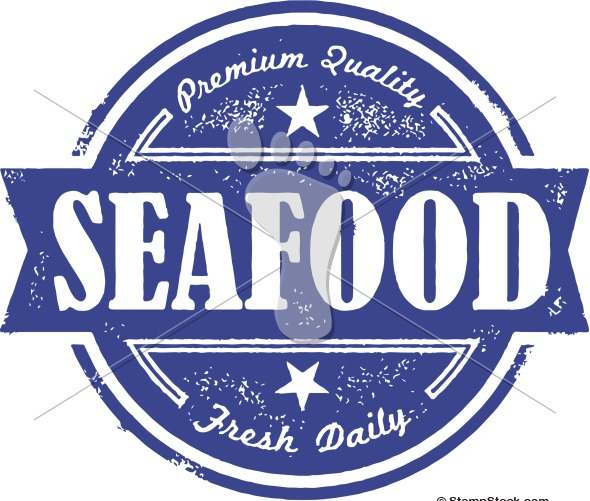 Vintage Fresh Seafood Label