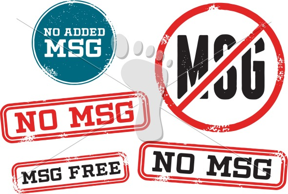 No Added MSG Menu Food Label
