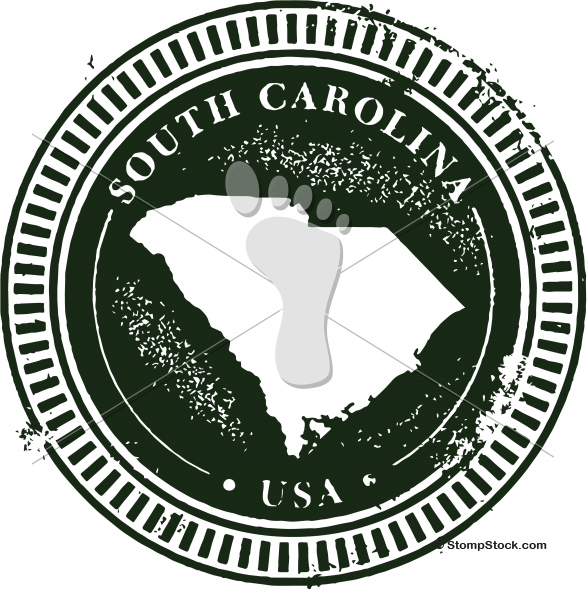 Vintage South Carolina USA State Stamp – Seal