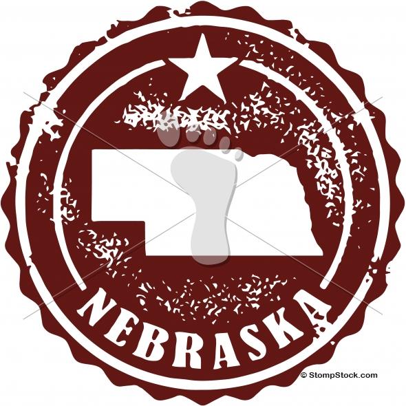 Vintage Nebraska State Stamp – Seal