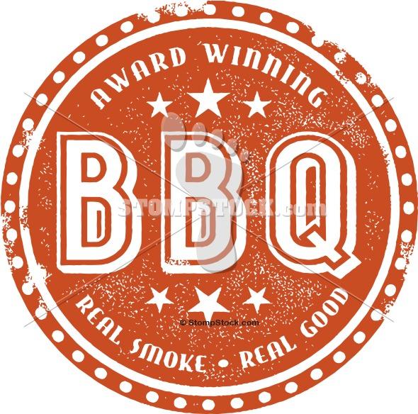 Award Winning Barbecue BBQ Menu Stamp