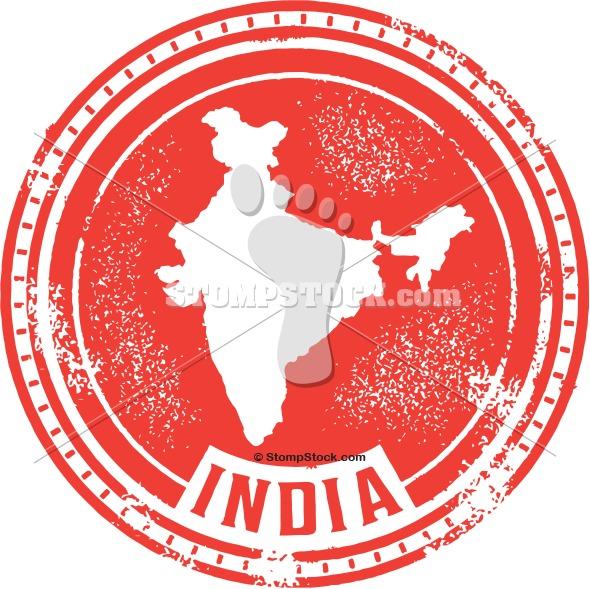 Vintage Style India Stamp
