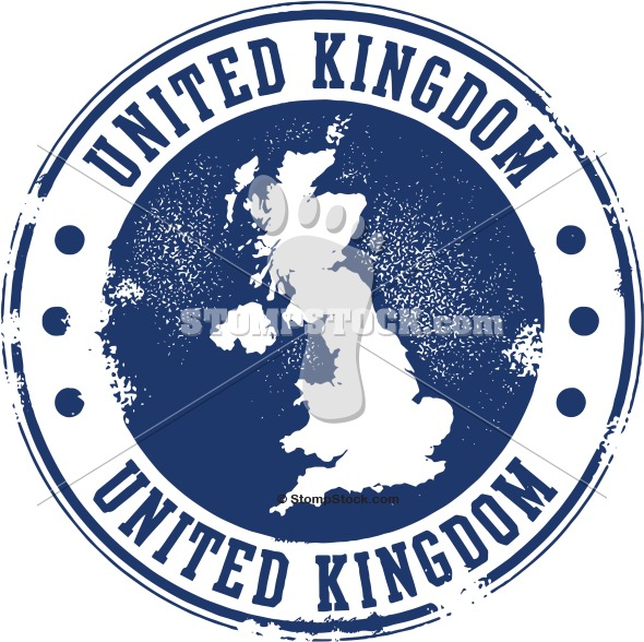 United Kingdom Travel Stamp Vector