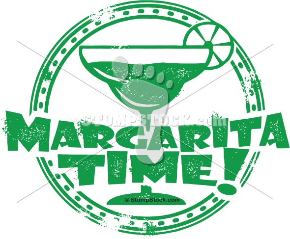 Margarita Time Cocktail Stamp Graphic