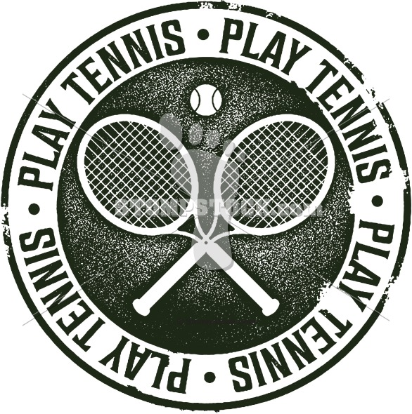 Vintage Style Tennis Clipart