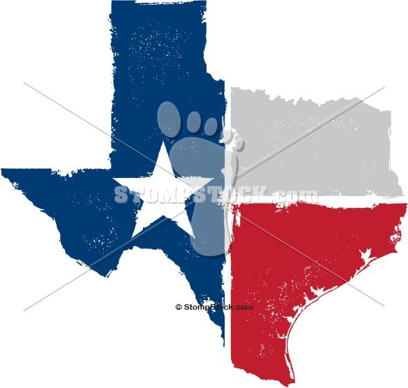 Vintage Style Texas State Flag