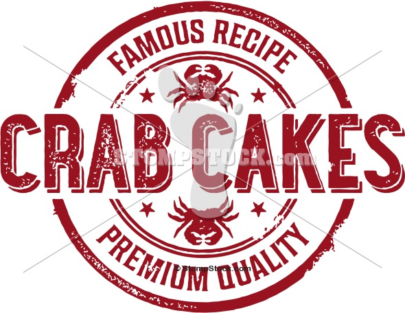 Famous Crab Cake Vector Sign