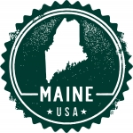 Vector Maine USA Stamp