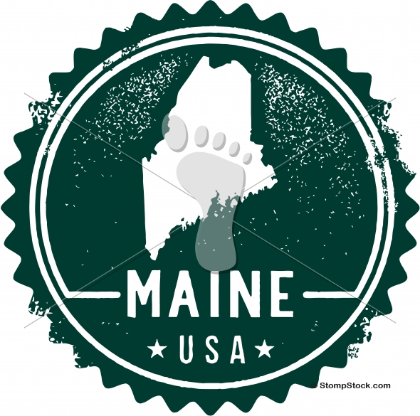 Vintage Maine USA State Stamp – Seal