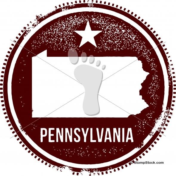 Vintage Pennsylvania USA State Stamp – Seal