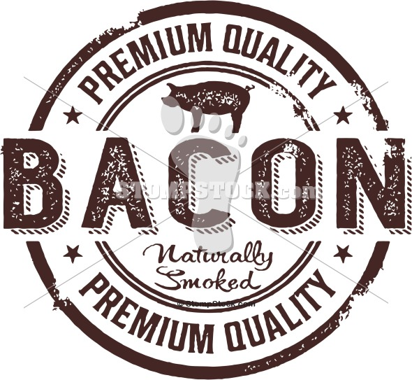 Vintage Premium Bacon Graphic Sign