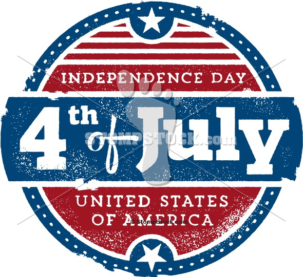 Vintage 4th of July USA Graphic