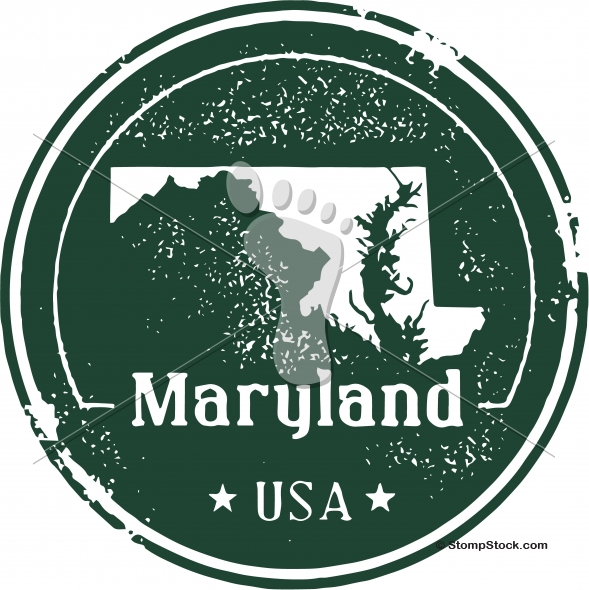 Vintage Maryland USA State Stamp – Seal