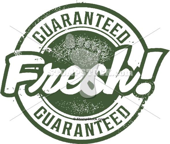 Guaranteed Fresh Rubber Stamp Image