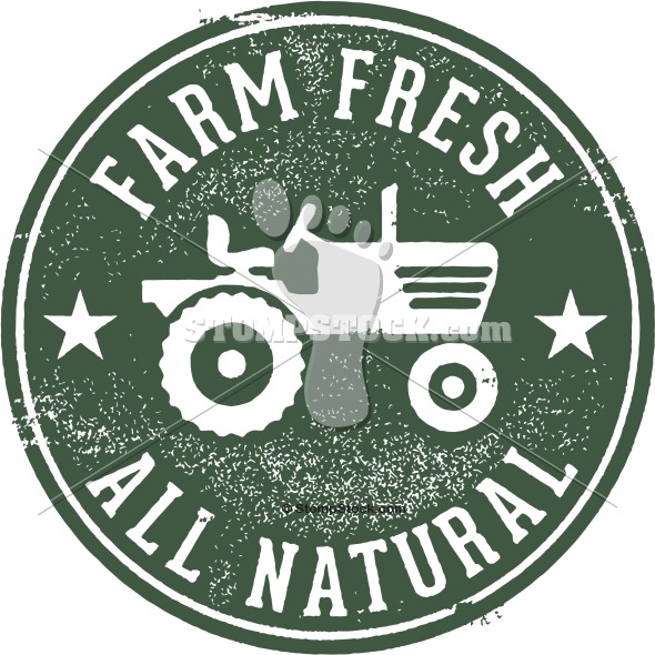 Farm Fresh and All Natural Rubber Stamp