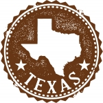 Vector Texas State Stamp