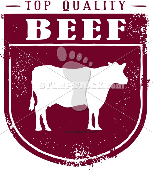 Vintage Style Beef Clipart