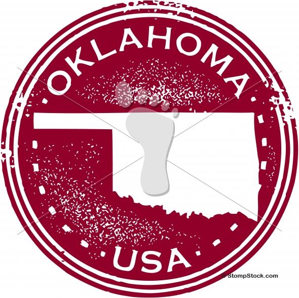 Vintage Oklahoma USA State Stamp – Seal