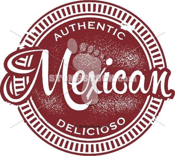 Authentic Mexican Food Menu Design Stamp