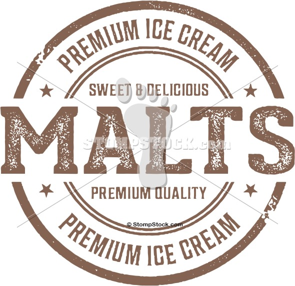Premium Malt Shop Menu Graphic