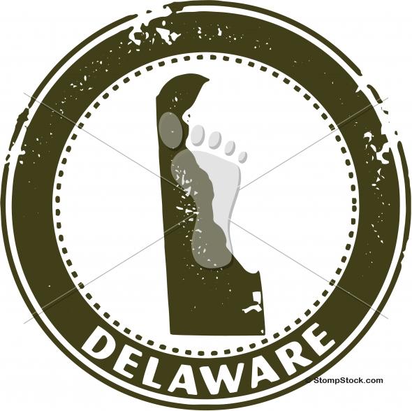 Vintage Delaware USA State Stamp – Seal