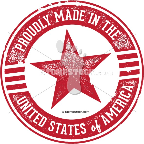 Made in USA Rubber Stamp Clip Art