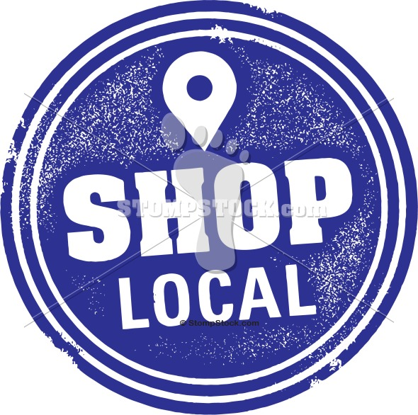 Shop Local Small Business Stamp