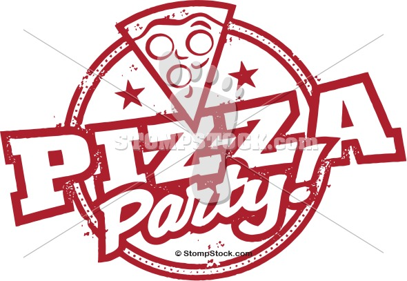Pizza Party Stamp Clip Art